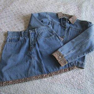Vintage! Denim Mini-Skirt and Jacket Set